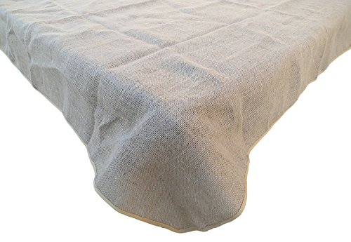 Goldstream Point Burlap Table Cloth Natural Overlay Rectangle Square 72 x 72 Inches