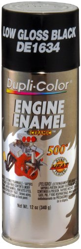 Dupli-Color EDE163407 Ceramic GM/Chrysler Low Gloss Black Engine Paint - 12 oz. (Chrysler Engine)