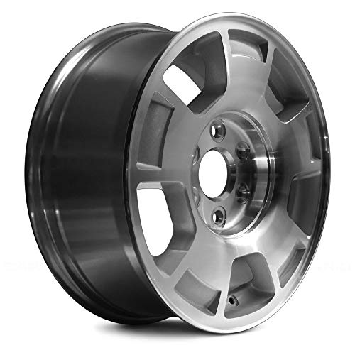 (Replacement 5 Spokes Machined with Silver Pockets Factory Alloy Wheel Fits Chevy Avalanche)