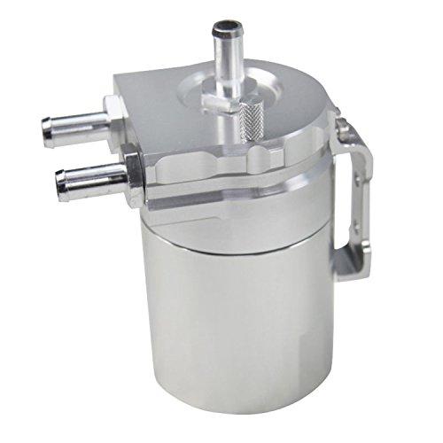 ALLOYWORKS Baffled Billet Aluminum Oil Catch Tank Can Reservoir Tank Universal ( Silver ) by ALLOYWORKS (Image #7)