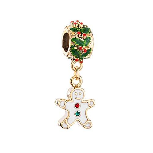 (LovelyCharms Christmas Gifts Gingerbread Man Sale Cheap Fit Pandora Charm Bracelets)