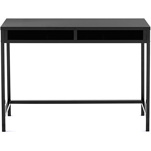 Classic Design Mainstays Stylish Executive Home Office Desks in Solid Black Finish