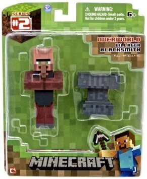 """Minecraft Series 2 Blacksmith Villager with Accessory 3"""" Action Figure"""