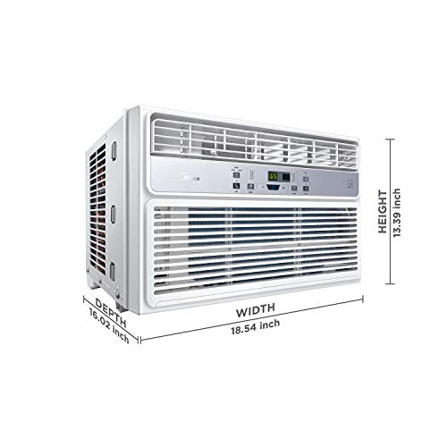 Midea Window Air Conditioner 8000 BTU Easycool AC (Cooling, Dehumidifier  and Fan Functions) for Rooms up to 350 Sq, ft  with Remote Control 8,000