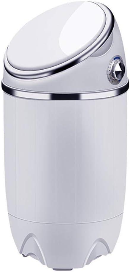 Lavadora Mini Lavadora, Individual Pequeña barril hogar con una sola cilindro semiautomática Lavadora, 3,5 kg de capacidad adecuados for la ropa del bebé de los niños, ropa de verano Lavado secadora