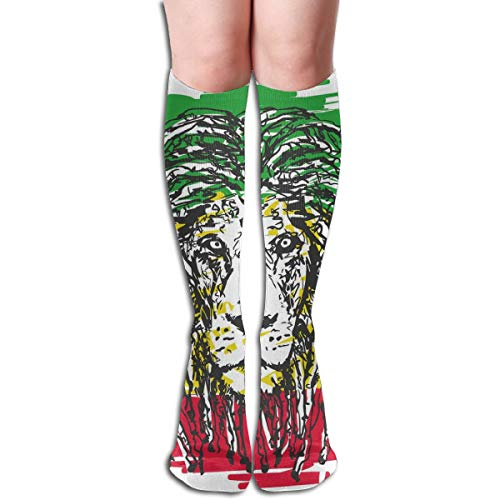 Compression Socks Graduated Stockings For Men & WomenEthiopian African Culture Hair Style Lion Head Portrait Grunge BackdropPrevents Swelling,Pain,for Running,Travel,Everyday Use