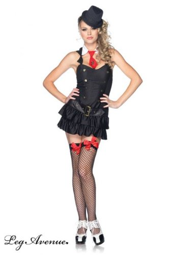 Leg Avenue Women's Mafia Princess Costume, Black, Medium/Large