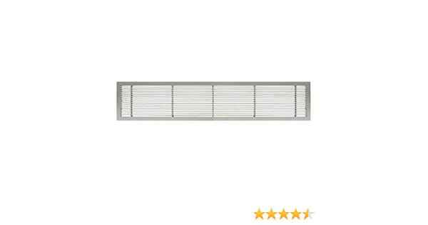 Architectural Grille 100041201 Ag10 Series 4 X 12 Solid Aluminum Fixed Bar Supply Return Air Vent Grille Brushed Satin Amazon Com