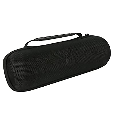 Khanka EVA Hard Case Travel Carrying Storage Bag for JBL Charge 2 & JBL Charge 2+ Plus Splashproof Portable Bluetooth Wireless Speaker . Fits USB Cable and Wall Charger - Black by Khanka