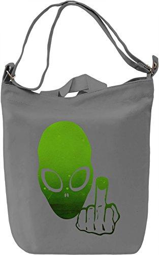 Alien Borsa Giornaliera Canvas Canvas Day Bag| 100% Premium Cotton Canvas| DTG Printing|