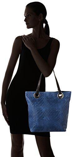 Bag Borse Top 80060 Blue handle Chicca Women's qCaUBA