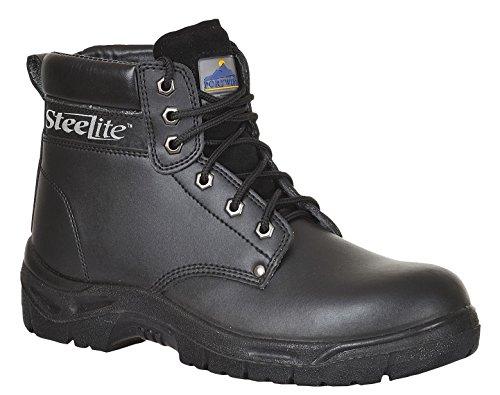 Steelite - Calzado de protección para hombre Negro negro, color Negro, talla 7 UK Negro - negro