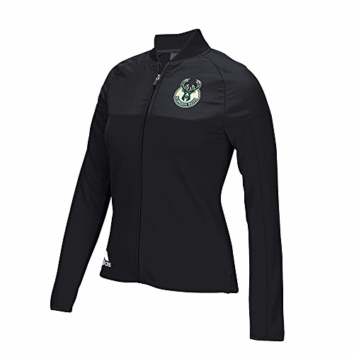 adidas Milwaukee Bucks NBA Black 2016 On-Court Long Sleeve Track Jacket Jacket For Women (S)