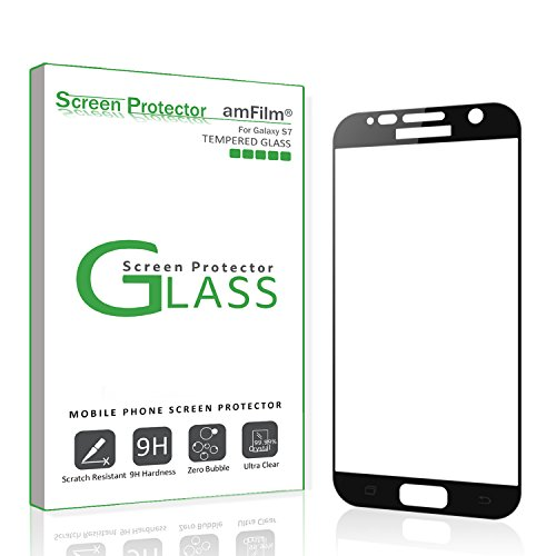 amFilm Bye-Bye-Bubble Samsung Galaxy S7 Tempered Glass Screen Protector