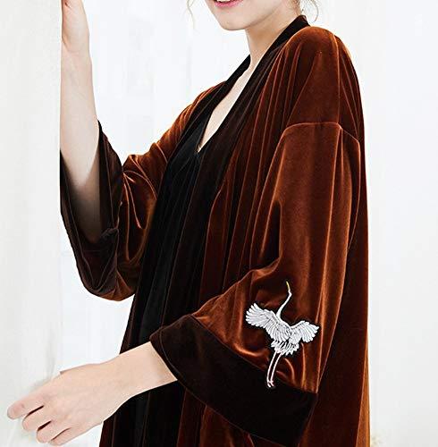 in CWJ a pigiama Pigiama e lunghe per modo manica inverno vestirsi caldo maniche rilassato 1 in velluto mezza velluto autunno donna Femmina da e in a qzqFr