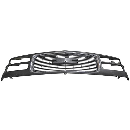 Black w/ Chrome Front End Grill Grille for GMC C/K Pickup Truck Yukon - 3500 Grill Chrome Truck