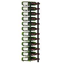 36WS4 Series 36 Bottle Wall Mounted Wine Rack Finish: Black