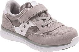 Saucony Unisex Baby Jazz Lite Toddler Sneaker, Grey/White, 11.5 XW US Little Kid