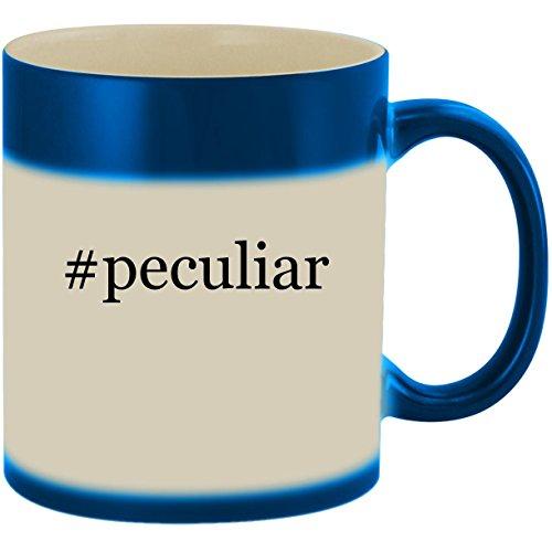 #peculiar - 11oz Ceramic Color Changing Heat Sensitive Coffee Mug Cup, Blue