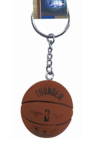 City Thunder Mini Basketball - aminco NBA Officially Licensed Oklahoma City Thunder Mini Spalding Basketball Keychain