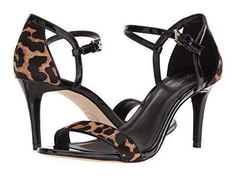 Michael Open Sandals Kors Toe (Michael Michael Kors Womens Simone Mid Sandal Open Toe, Natural/Black, Size 5.0)