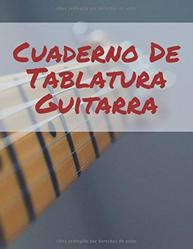 Cuaderno De Tablatura Guitarra: 120 Paginas: Amazon.es: Music ...