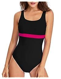 HAIVIDO Women's Athletic U Back One Piece Swimsuit Sports Training Bathing Suit