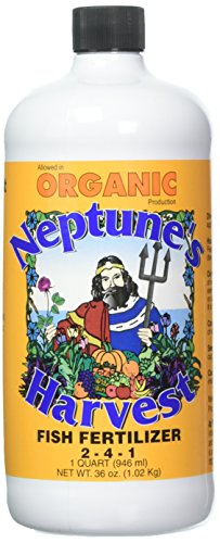 Neptune's Harvest HF136 Hydrolyzed Fish Fertilizer 2-4-1 , 36 Ounce