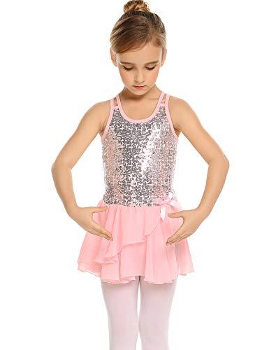 Arshiner Girls Sequined Camisole Ballet Dance Tutu Dress Sweetheart Leotard