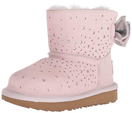 UGG Girls' T STARGIRL Classic Mini II Bow Fashion Boot, Baby Pink, 12 M US Little Kid