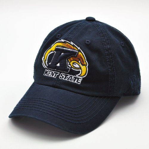 Top of the World NCAA-Mid-American Conference (MAC)-Cotton Crew-Adult Adjustable Strapback-Hat Cap-Kent State Golden (Mac Adjustable Hat)