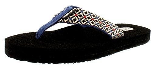 Womens Teva Sandals W's Black Rombo Thong multi Mush 2 vUqx4xwa6