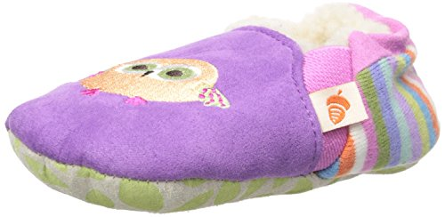 ACORN Easy-On Moc Slipper,Purple Owl,18-24 Months M US Toddler
