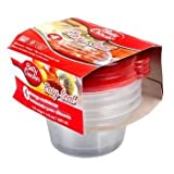 betty cups lids - Betty Crocker Easy Seal 0.5 Cup Plastic Storage Containers with Lids, 8 Containers