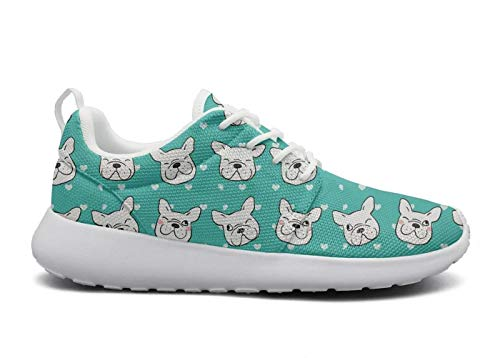 ipdterty Wear-Resistant Jogger Sneaker esign of Head Pug Dog Womens Ladies New Athletic Running Shoes by ipdterty