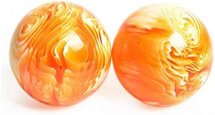 中年や高齢者フィットネスボール、天然樹脂ハンドボール健康ボール、蜜蝋琥珀フィットネスボール、長寿ボール、リハビリテーションエクササイズ (サイズ : 5.0cm)