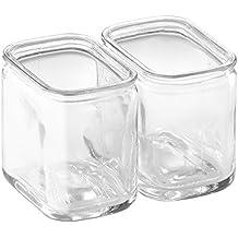 InterDesign Cora Glass Dual Scrub Hub, Clear