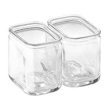 InterDesign Cora Glass Dual Scrub Hub, Clear