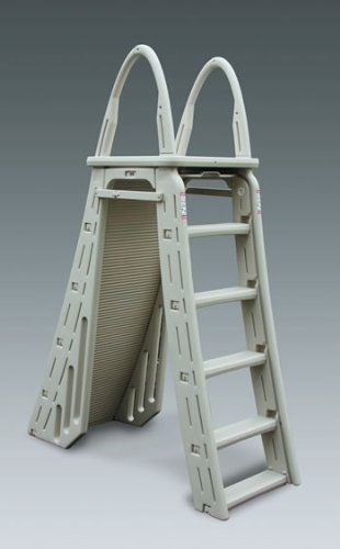 Cooper Ground (Confer Plastics A-Frame 7200 Above Ground Adjustable Pool Roll-Guard Safety Ladder)