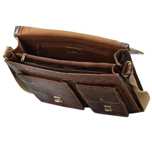 Greenburry Trumble Brown Aktentasche Leder 39 cm Laptopfach 2bVgzgKUG