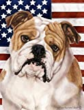 Best of Breed English Bulldog: Indoor/Outdoor House Flag (Patriotic II Series) 12 x 17 inches For Sale