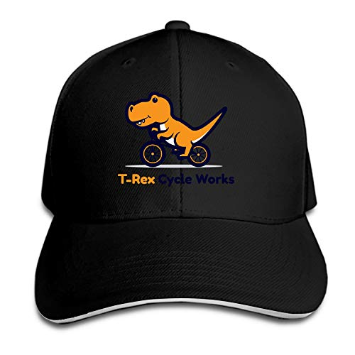 (T-rex Cycle Works Baseball Cap Dad Hat Low Profile Adjustable for Men Women)