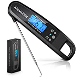 2018 Upgraded Digital Meat Thermometer for Grill and Cooking, 2S Best Super Fast Instant Read Waterproof Kitchen Thermometer Probe for Food Heat, Candy, Liquids, Grilling, Beef, Bread, Cakes, BBQ