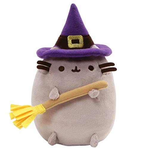 GUND Pusheen Witch Halloween Cat Plush Stuffed Animal, Gray, 7.5