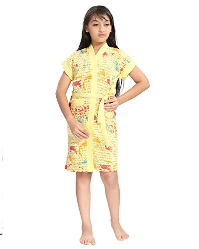 Price comparison product image Be You Letter Print Girls Yellow Bathrobes