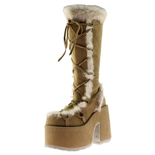 [Demonia By Pleaser Women's Camel-311 Boot,Camel,9 M US] (Spike The Rabbit Costume)
