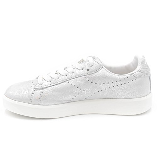 90001 Donna Diadora Sneakers Pelle Heritage Argento In qfgA578nwc