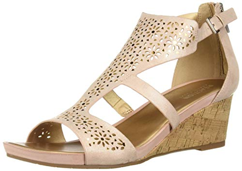- Kenneth Cole REACTION Women's Roll T-Strap Wedge Sandal, Rose 8 M US