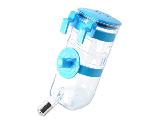 Ace Select 375ml Pet Hanging Water Bottle Dispenser Pet Supplies for Dog Cat Rabbit Puppy - Blue