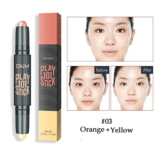 - Handfly Double-Head Concealer Stick Brighten Skin Color Cover Facial Blemishes Face Contour Stick